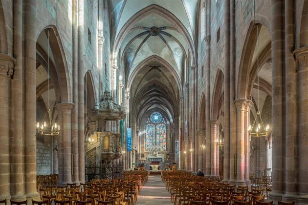Visite guidée: l'eglise saint georges en alsace (67600 selestat ...