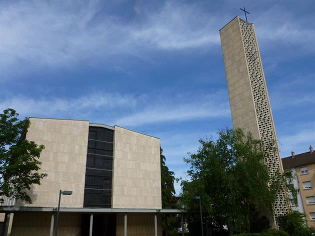 Church and tower of Notre-Dame-de-la-Paix