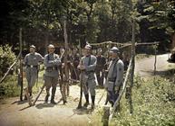 Soldats français à la frontière franco-suisse en 1916