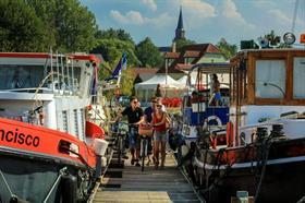 Vélo le long du Canal, sur l'euro vélo 6