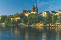 Le Rhin au pied de la Cathédrale de Bâle