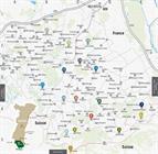 Carte des circuits pédestres du Sundgau