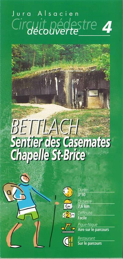 Randonnée pédestre: Bettlach  sentier des casemates et la chapelle St-Brice