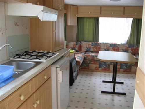 Mobil-home espace cuisine