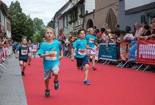Children Marathon in the vineyard