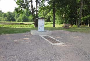 Service point for campers-dormobile