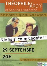 Concert de Théophile Ardy et Sabrina...