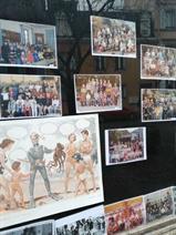 Exposition sur l'école au centre-ville...
