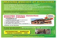 Porte ouverte à la ferme Chalet Pierre