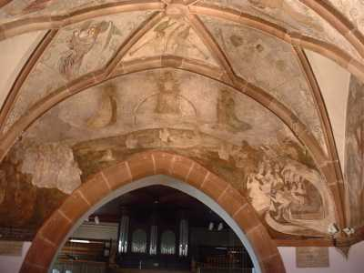 Frescoes of 15th century of the mixed church