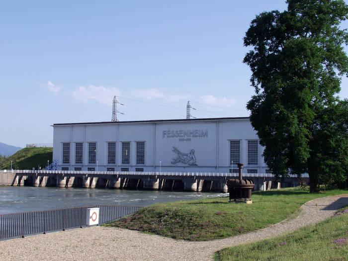 Passerelle exposition de Fessenheim