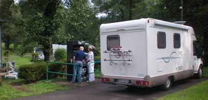 Service point - Parking area for campers-dormobiles