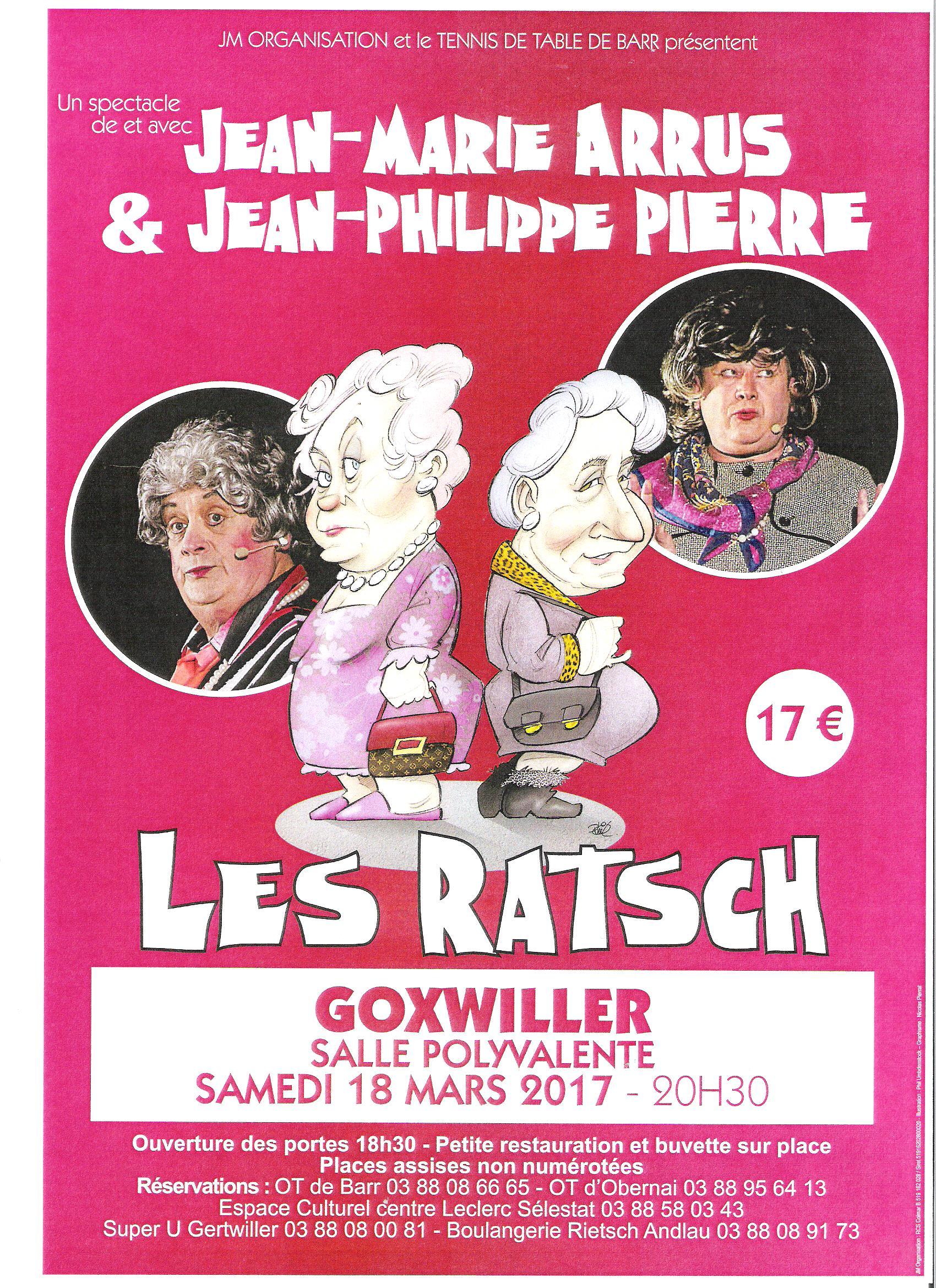 Spectacle avec Jean Marie Arrus et Jean Philippe Pierre