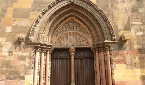 Détails de la collégiale Saint-Martin (Yannick Kuntz)