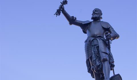 Statue Schwendi sur la place de l'Ancienne Douane (OT Colmar)
