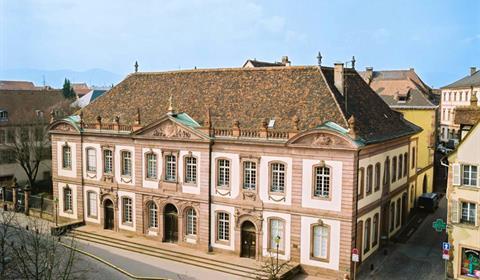 Vue aérienne du palais du conseil souverain (Zeppeline Alsace)