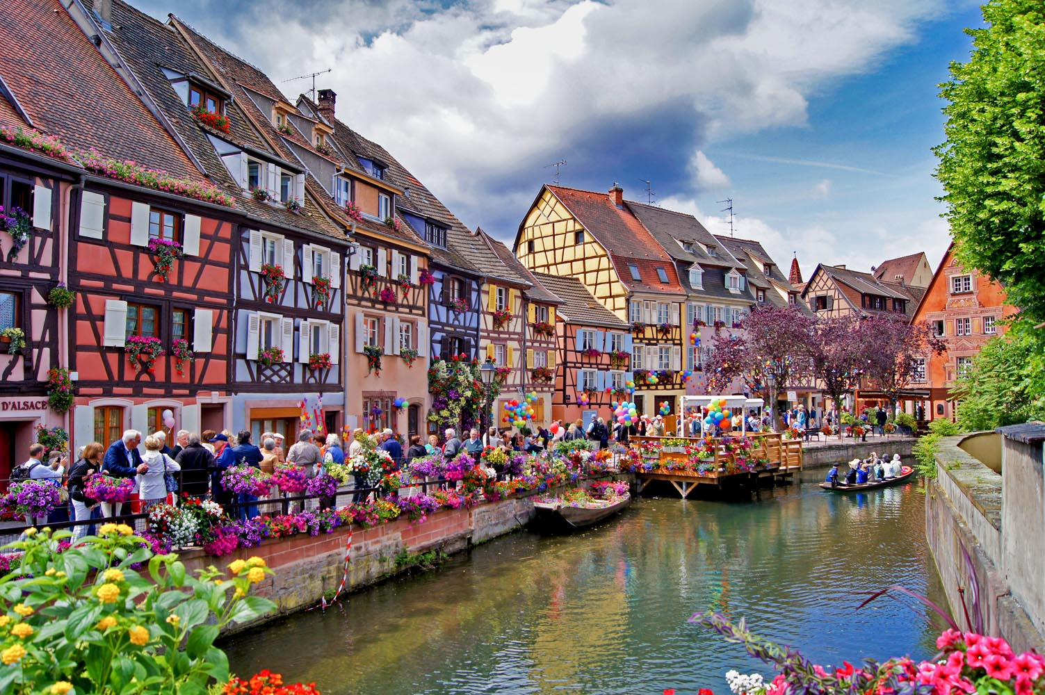 Colmar Alsace France Tourist Office Little Venice - Little venice map