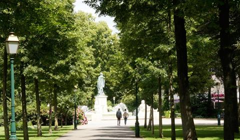 Parc du Champ de Mars et la fontaine Bruat (OT Colmar)