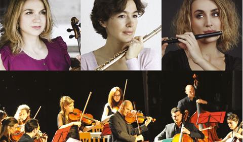 Deborah Nemtanu, violon & alto Juliette Hurel, flûte Joséphine Poncelin, flûte Orchestre de Chambre Occitania