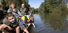 Barques à fond plat sur la Sarre : pass' famille