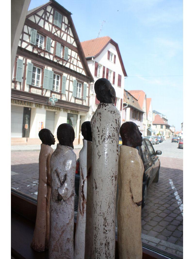 Sculpture céramique, Gaby Kretz à Sermersheim