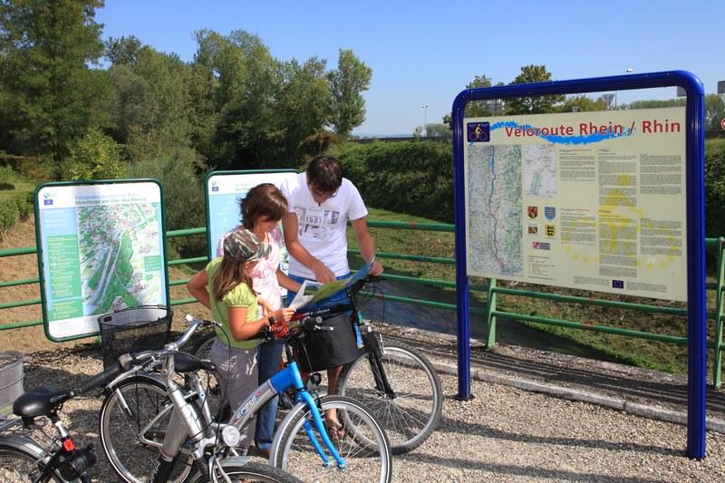 Location de vélos au bureau d'accueil de Rhinau