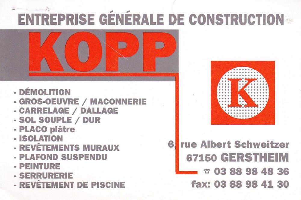 Entreprise gnrale de construction kopp for Entreprise de construction