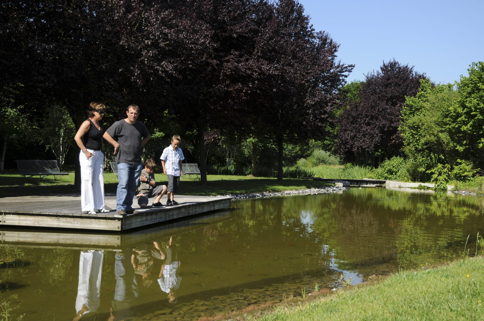 D couvrir parcs et jardins parc du mus e wurth for Piscine erstein