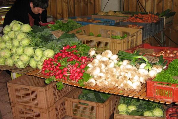 Petit marché hebdomadaire des produits du terroir