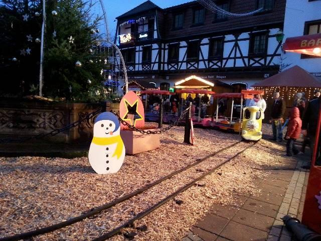 Décoration pendant le marché de Noël de Mutzig 2014