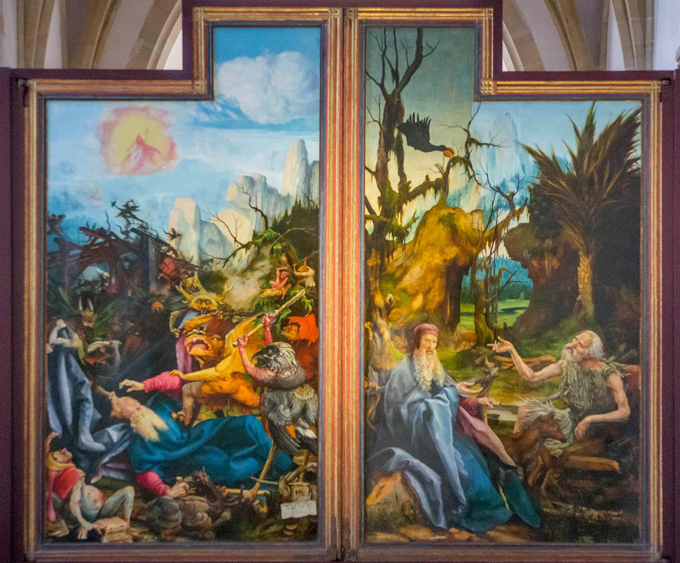 Retable d'Issenheim - La tentation de Saint Antoine Musée Unterlinden, Colmar, Alsace / www.musee-unterlinden.com Crédit photo : Office de tourisme de Colmar