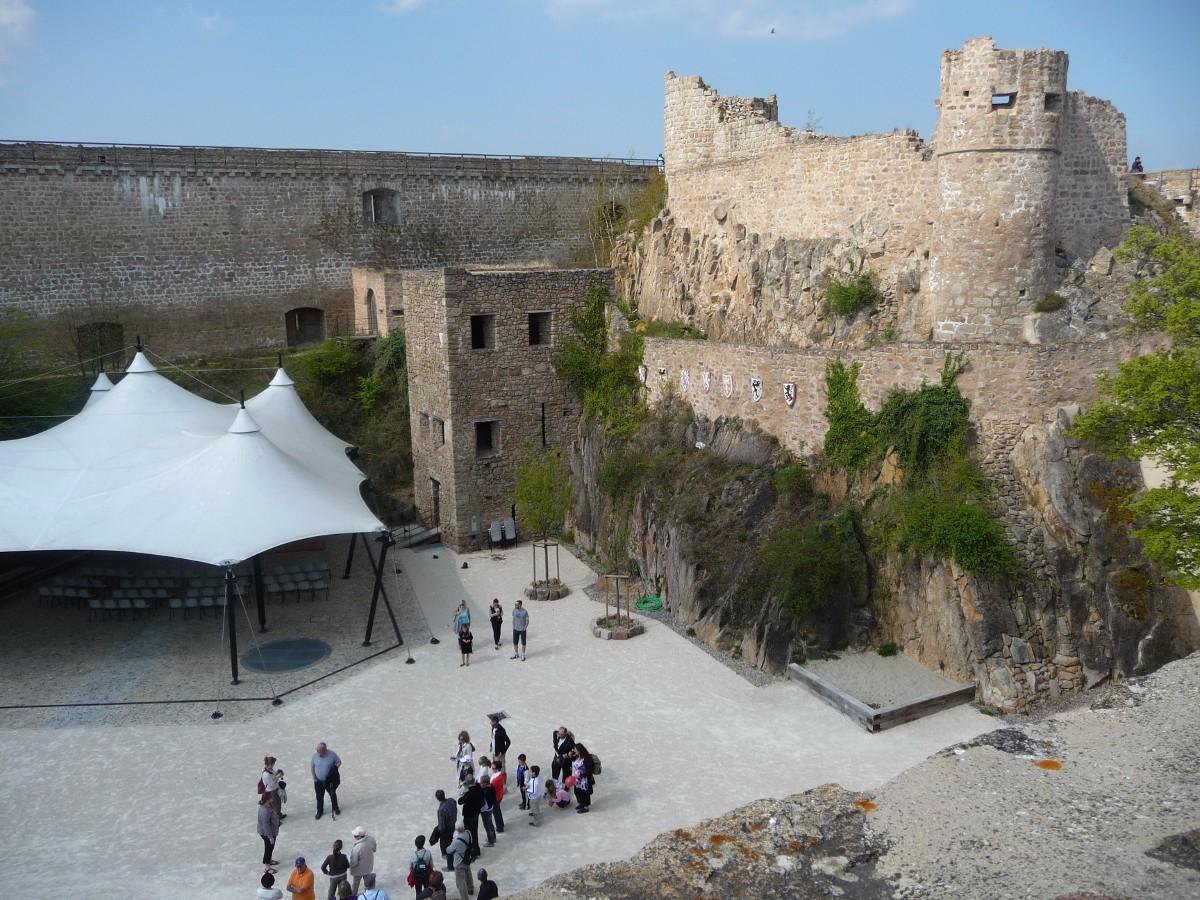 Vue sur le château supérieur