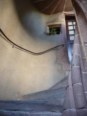 Escalier en colimaçon du 16e siècle