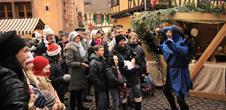 Mittelalterlicher Weihnachtsmarkt in Ribeauville