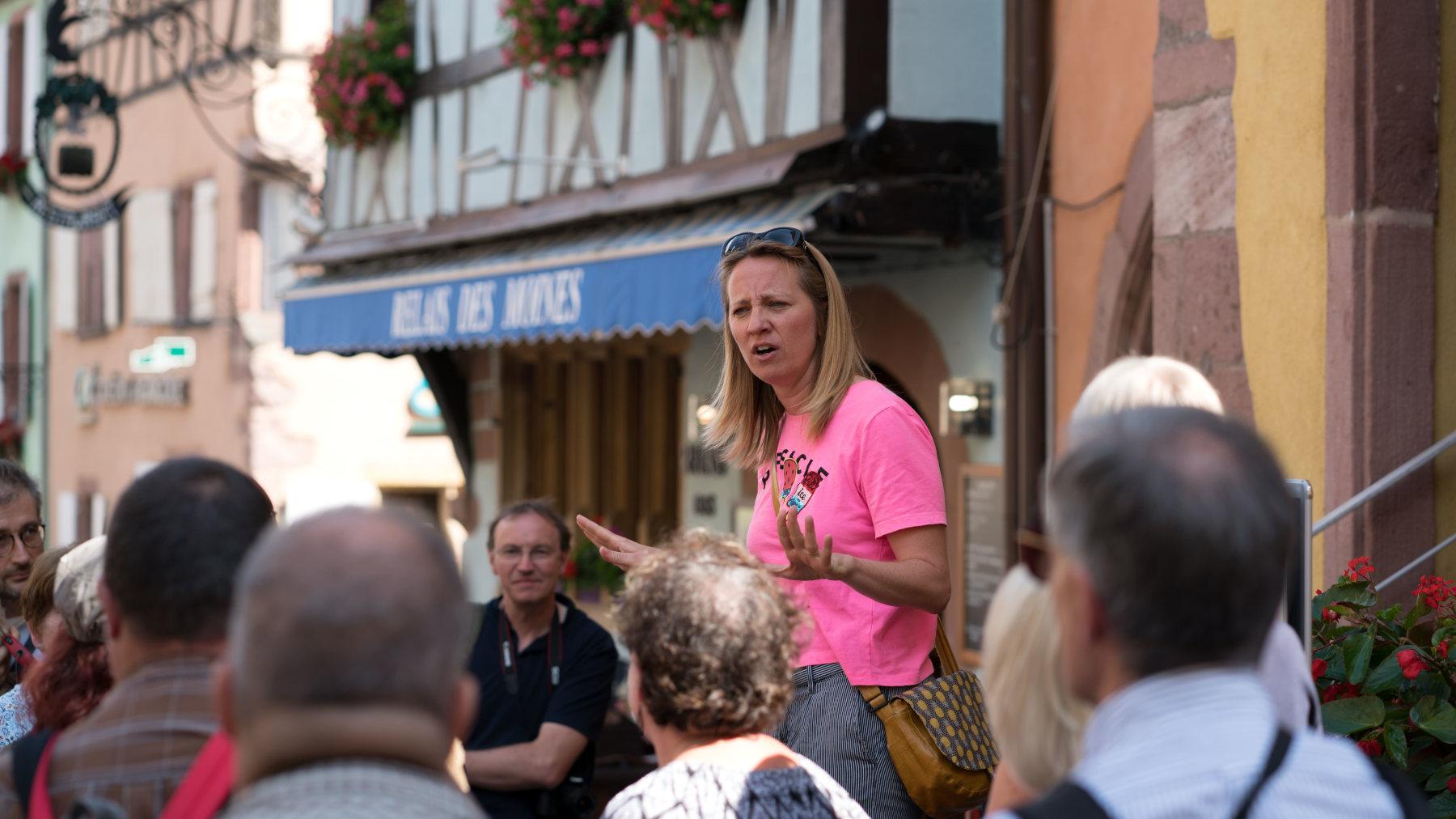 City tour and welcome drink von Riquewihr