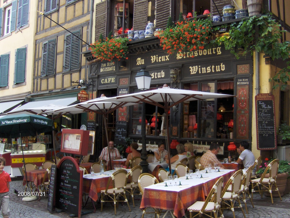 restaurant au vieux strasbourg. Black Bedroom Furniture Sets. Home Design Ideas