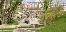 Der Uferpark des Thur