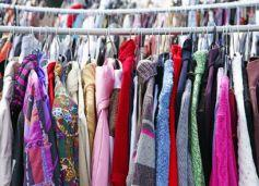 Sale of second-hand clothing and toys