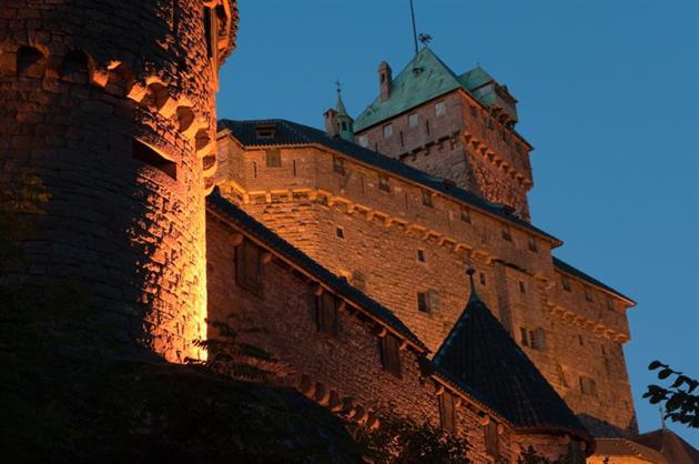 Le château de nuit<br>Photo: Klaus Stöber
