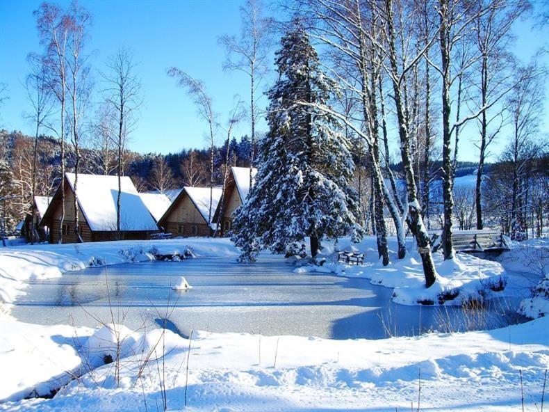 Les Lodges - Chalet Alisier - L'Etang en hiver