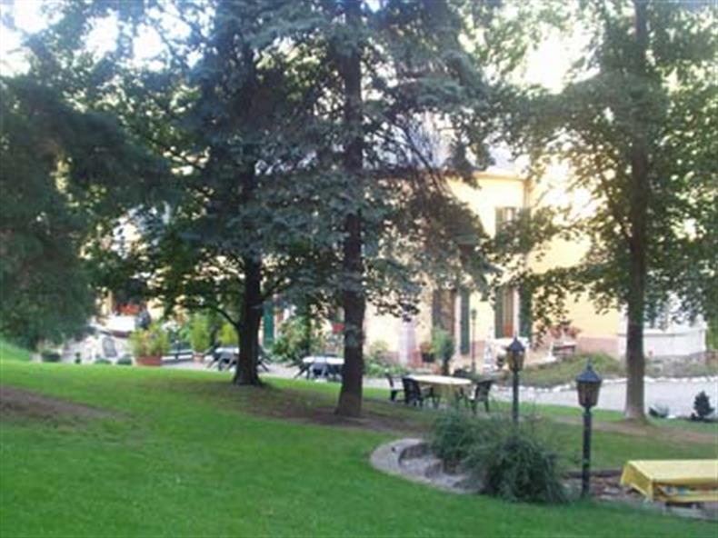 Parc de la villa avec ses arbres centenaires
