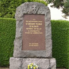 - © Monument of the Groupement Mobile d'Alsace