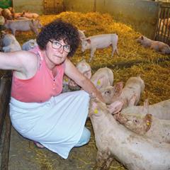 Nathalie Latuner, gérante de la Ferme - © Magali Santulli - Périscope