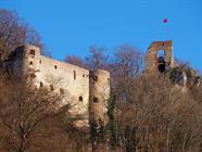Le château de Ferrette en hiver