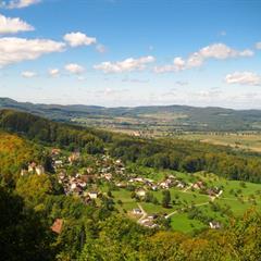 Vue sur Burg et le Jura Alsacien - © Vianney MULLER