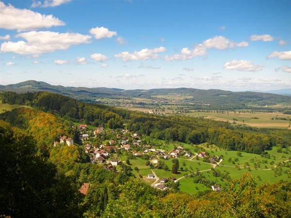 View of Burg and the Alsatian Jura