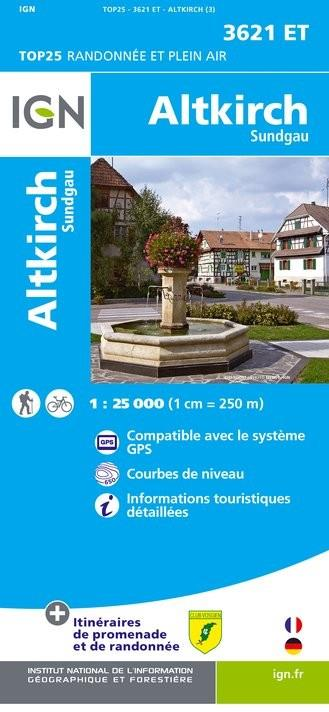 Carte IGN 3621 ET Altkirch