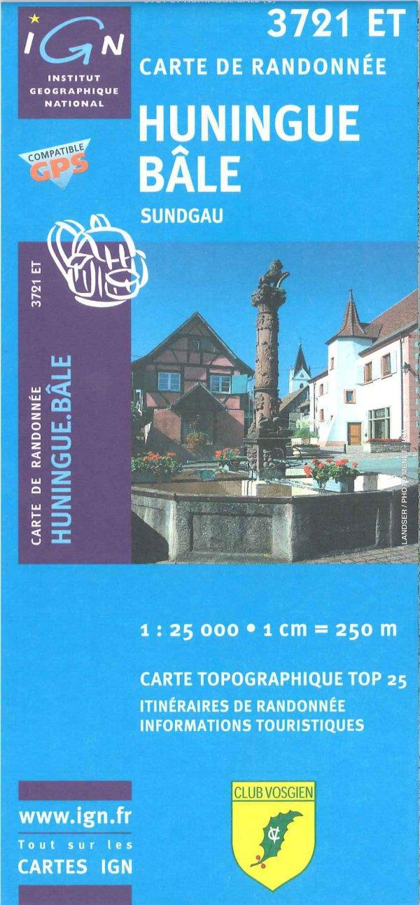 Carte IGN 3721 ET Huningue - Bâle