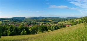 Typical Alsatian Jura landscape, Winkel village.