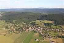 Koestlach and Kastelberg seen from the air